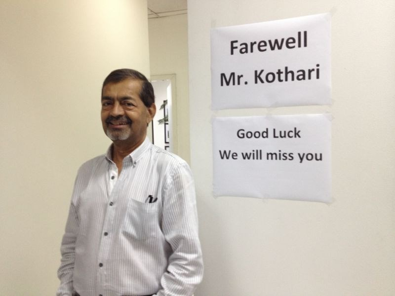 Farewell Mr. Kothari - Sales Director