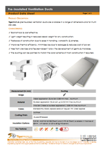 Pre-Insulated Ventilation Ducts Data Sheet
