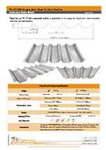 TR 47/180 Single Skin Roof & Wall Profile Data Sheet