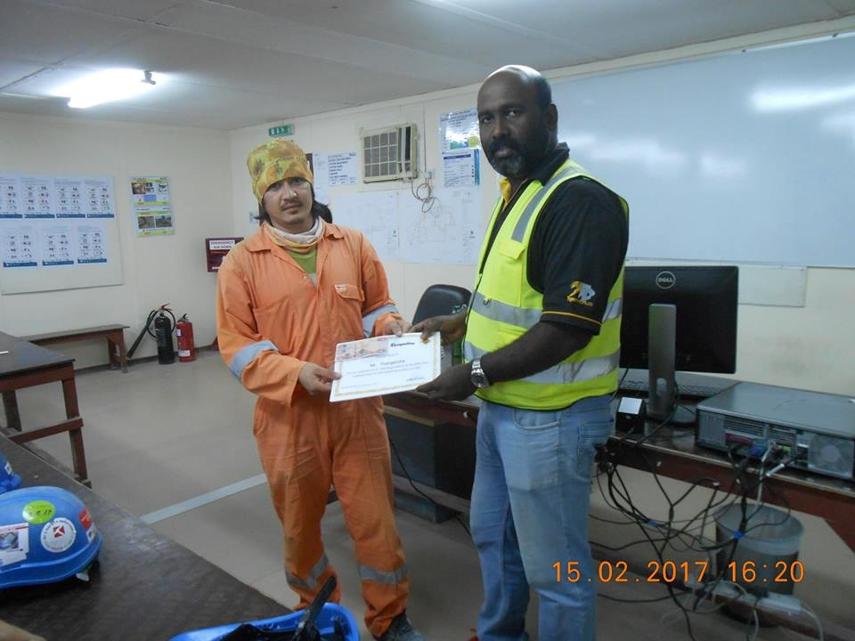 Tiger Profiles - HSE Award for Safety Jan 2017