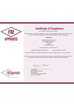 Tiger Profiles FM Approval Certificate - Insulated Panels 6-14-17